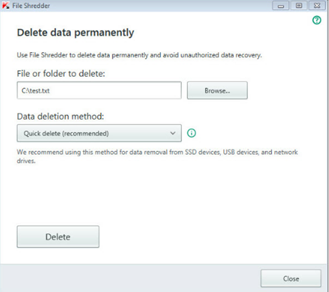 Permanently Delete Files