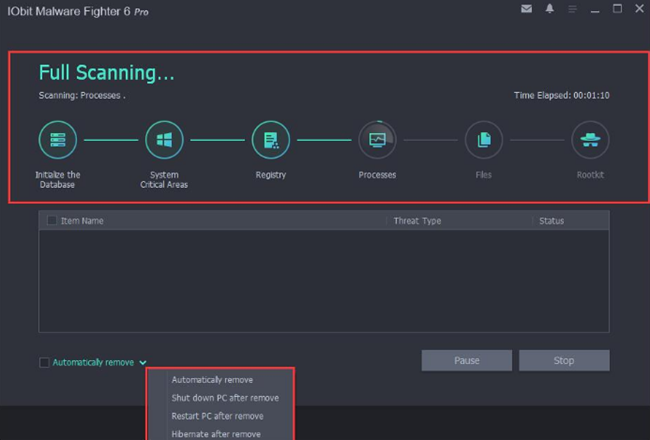 Scanning Process of Malware Fighter 6 Pro