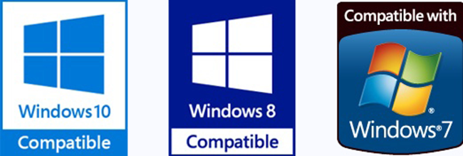 Compatible with Windows 7, 8 and 10
